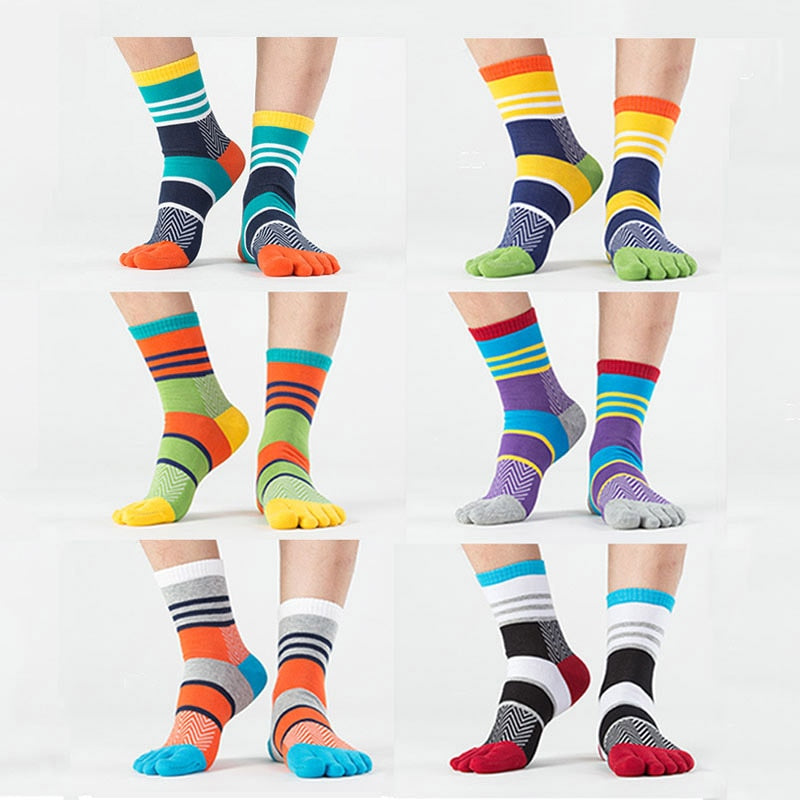 Fashion Cotton Five Fingers Toe Socks