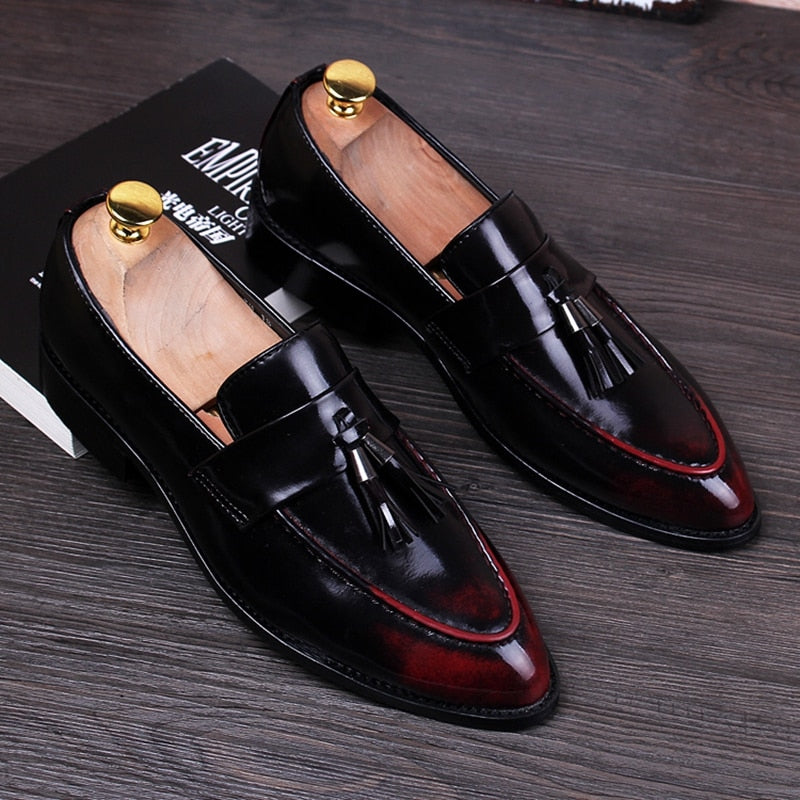 Stephoes Retro Derby Pointed Toe Shoes