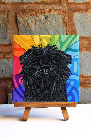 Affenpinscher Ceramic Art Tile