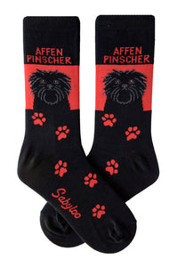 Affenpinscher Dog Socks Red