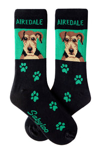 Airedale Dog Socks