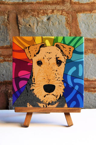 Airedale Ceramic Art Tile