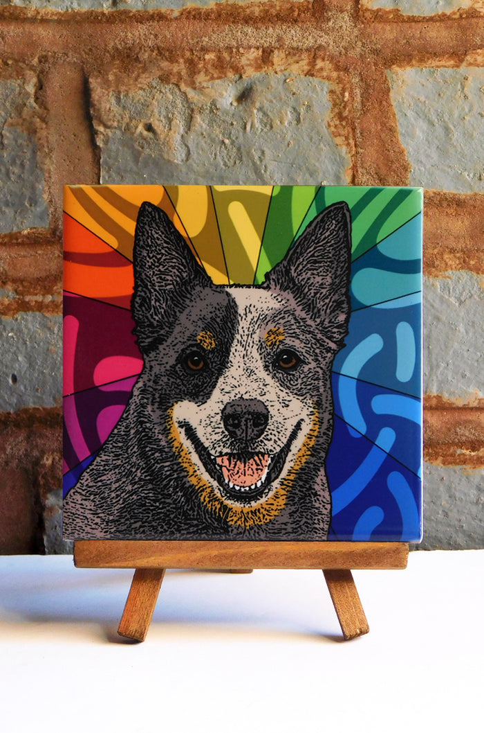 Aussie Cattle Ceramic Art Tile