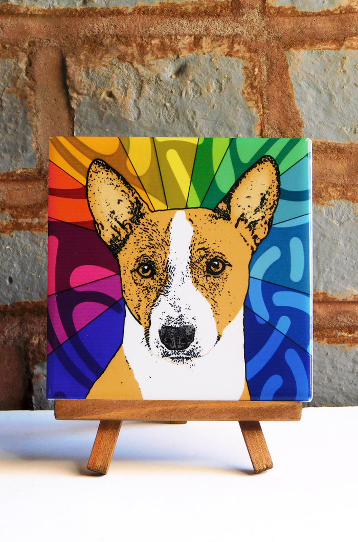 Basenji Ceramic Art Tile