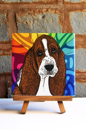 Basset Ceramic Art Tile