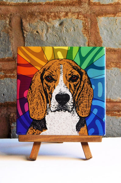 Beagle Ceramic Art Tile