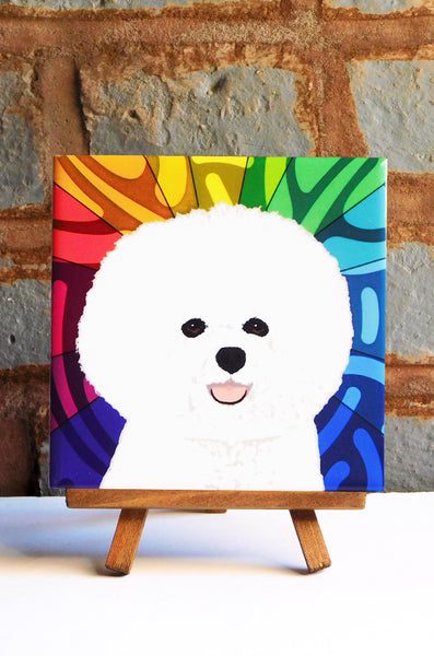 Bichon Frise Ceramic Art Tile