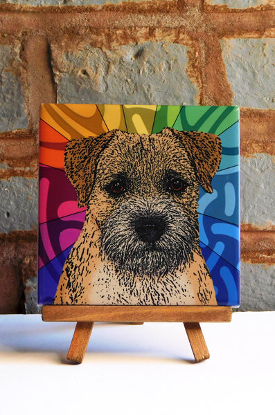 Border Terrier Ceramic Art Tile