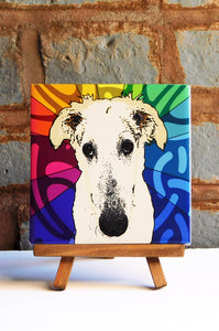 Borzoi Ceramic Art Tile