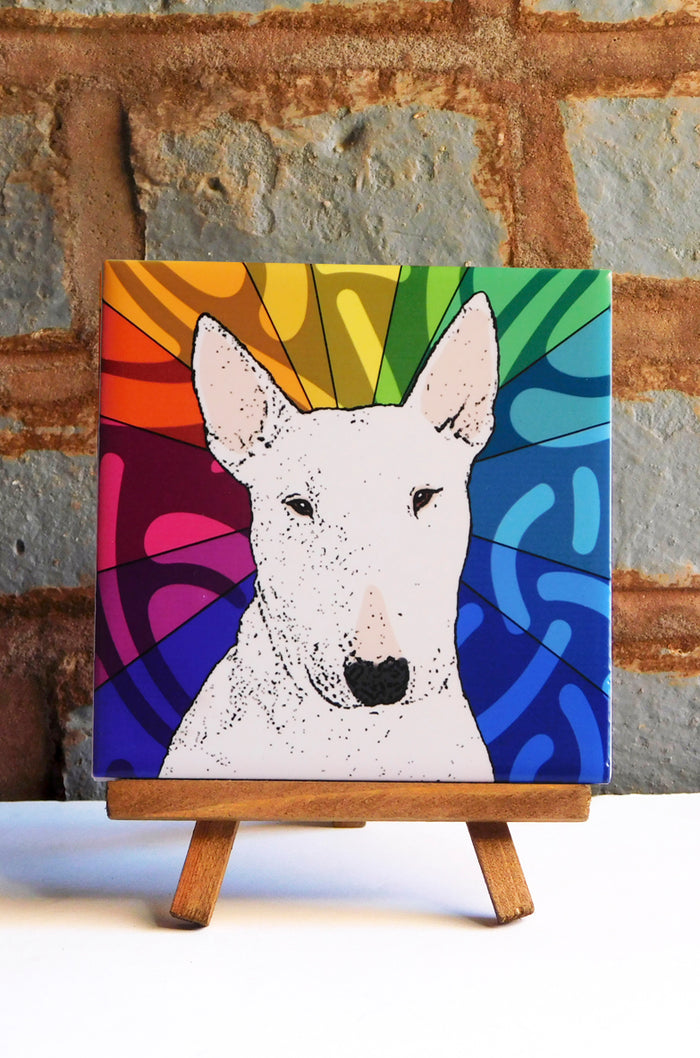 Bull Terrier Ceramic Art Tile
