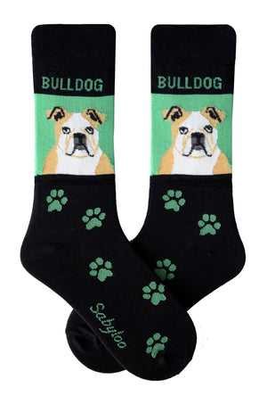 Bulldog Dog Socks