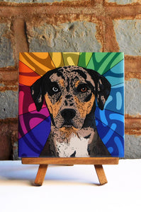 Catahoula Ceramic Art Tile
