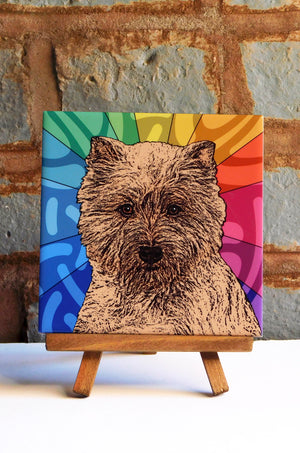 Cairn Terrier Ceramic Art Tile