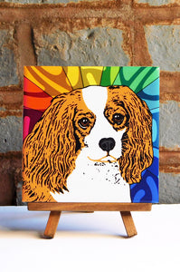Cavalier Brown Ceramic Art Tile