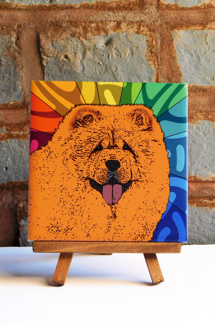 Chow Chow Ceramic Art Tile