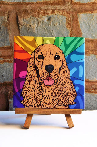Cocker Spaniel Ceramic Art Tile