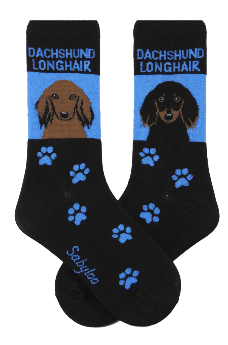 Dachshund Long Hair Dog Socks – Sabyloo 10f7fd7b3