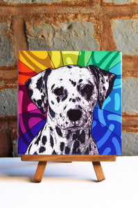 Dalmatian Ceramic Art Tile