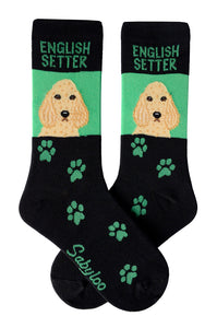 English Setter Dog Socks