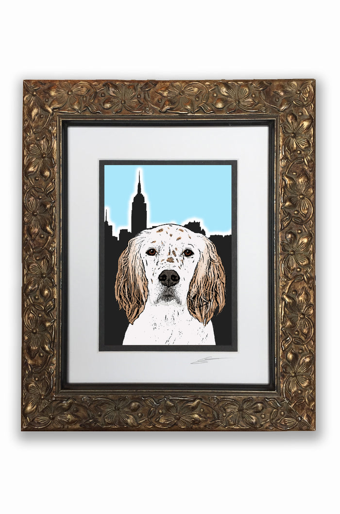 English Setter Pupart Portrait