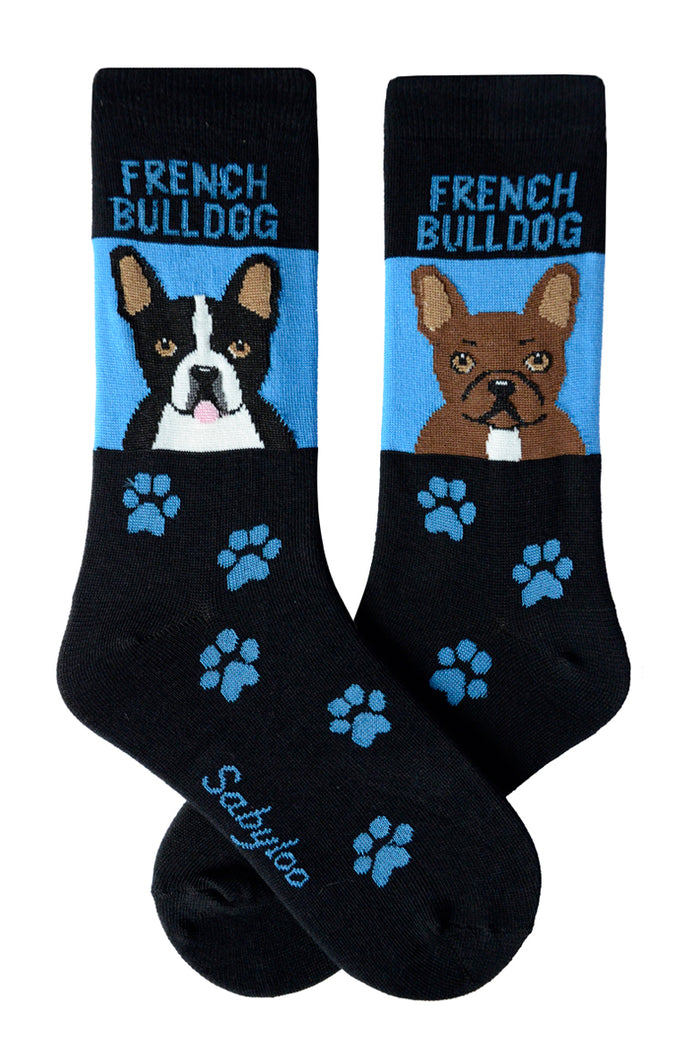 French Bulldog Dog Socks Black and White