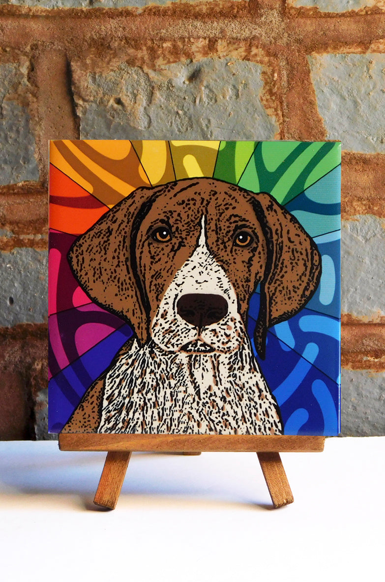 German Shorthair Pointer Ceramic Art Tile
