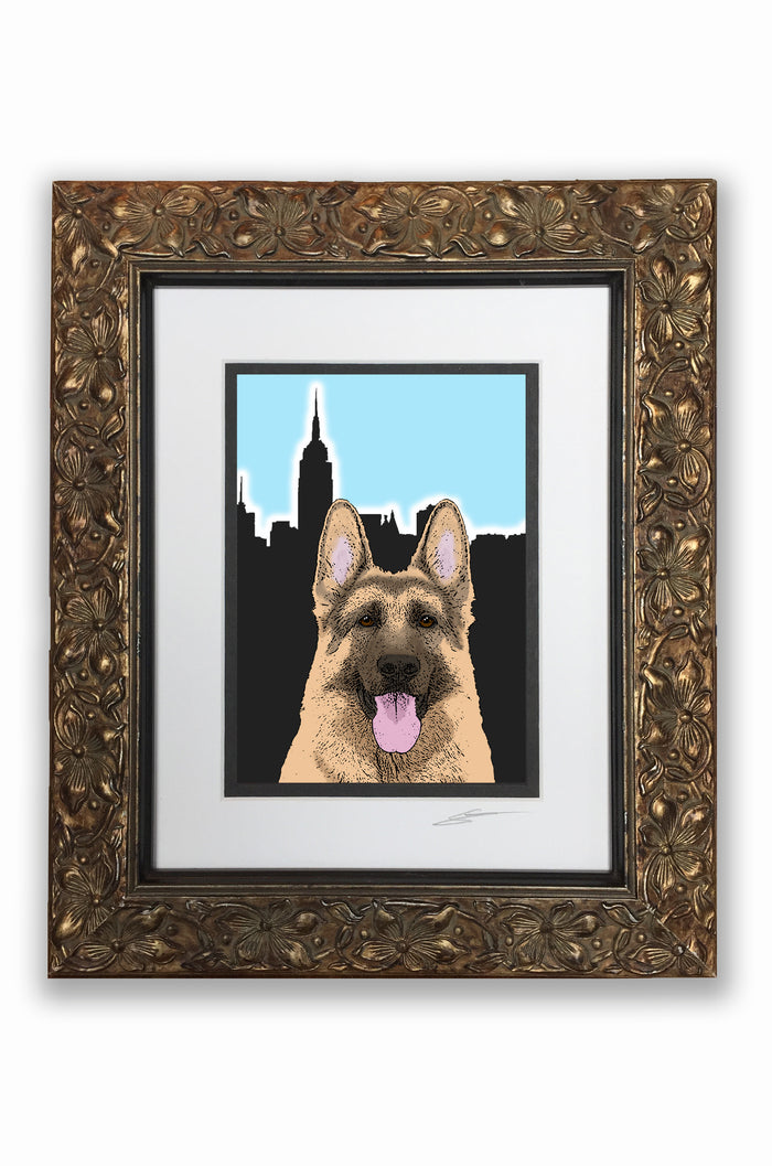 German Shepherd Pupart Portrait