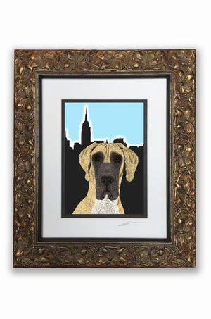Great Dane Pupart Portrait