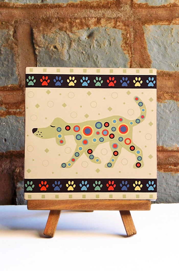 Houndart Ceramic Art Tile