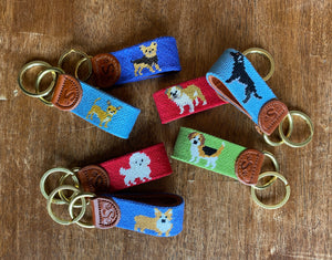 Sabyloo Handcrafted Needlepoint Keyrings