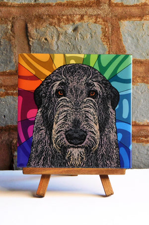 Irish Wolfhound Ceramic Art Tile