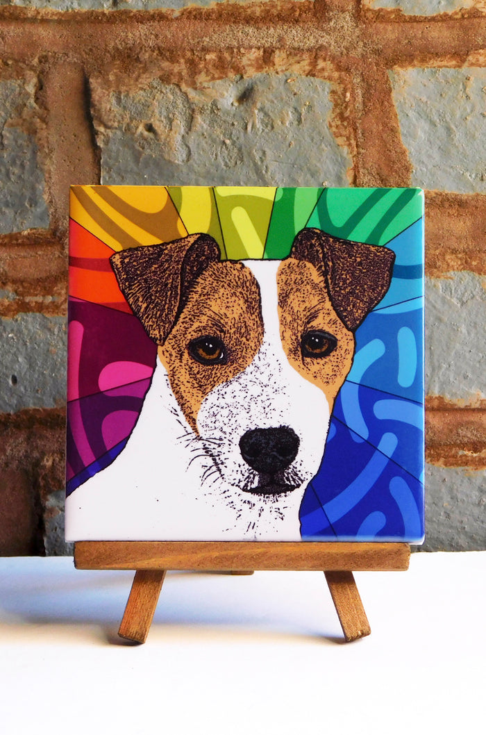 Jack Russell Ceramic Art Tile