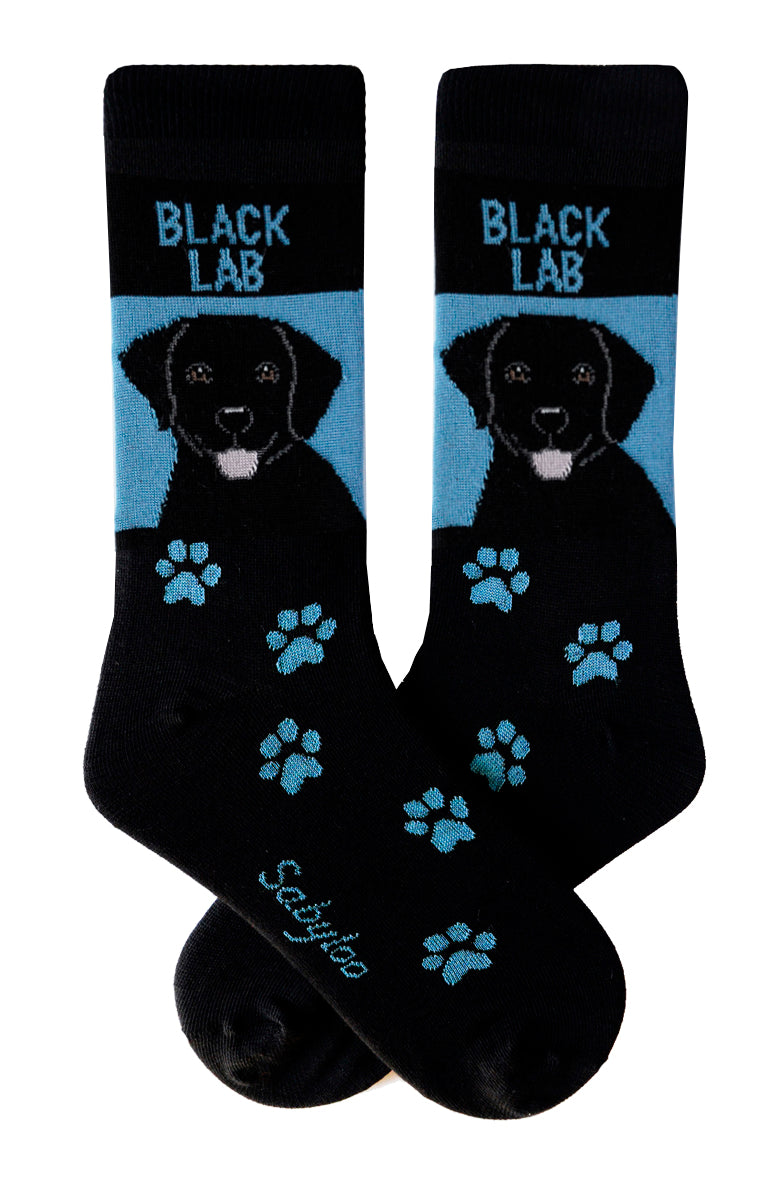Lab, Black Dog Socks