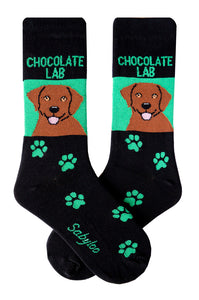 Lab, Chocolate Dog Socks