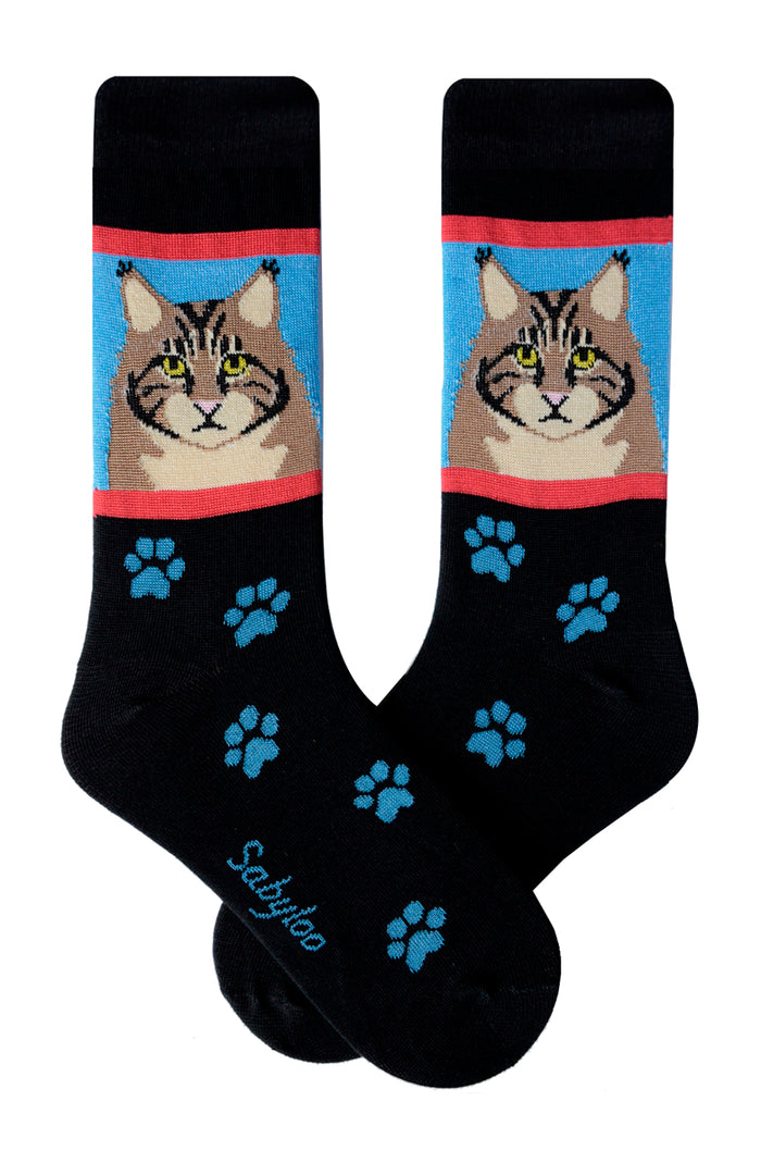 Maine Coon Cat Socks