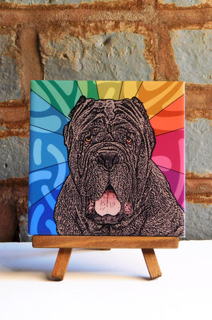 Neopolitan Mastiff Ceramic Art Tile