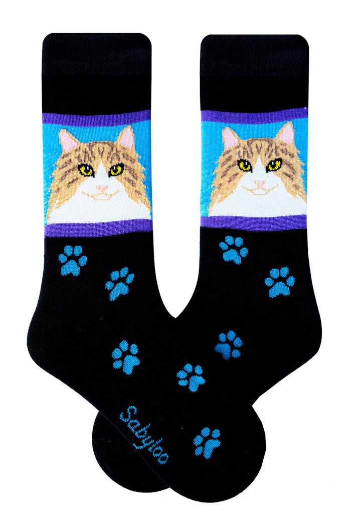 Norwegian Forest Cat Socks