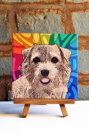 Norfolk Terrier Ceramic Art Tile