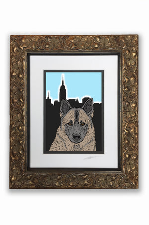 Norwegian Elkhound Pupart Portrait