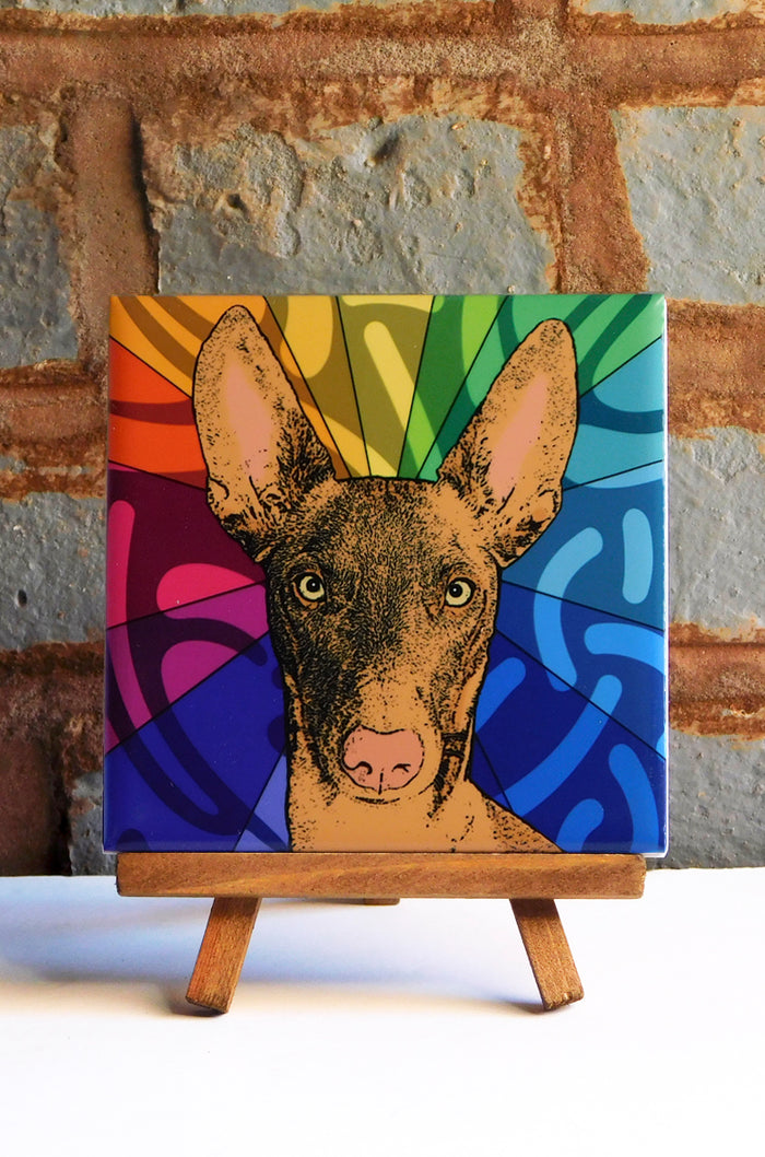 Pharaoh Hound Ceramic Art Tile