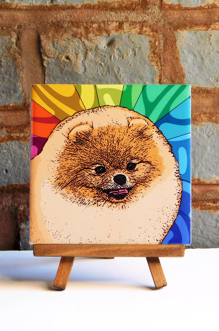 Pomeranian Ceramic Art Tile