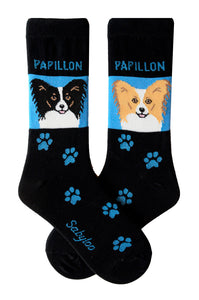 Papillon Dog Socks