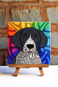 Pointer Ceramic Art Tile