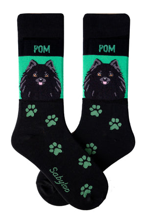 Pomeranian Dog Socks Black