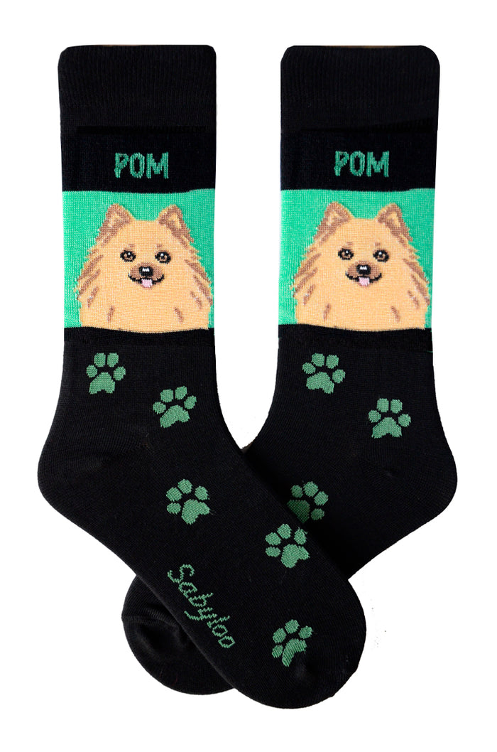 Pomeranian Dog Socks Tan