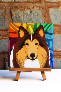 Rough Collie Ceramic Art Tile