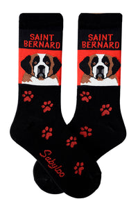 Saint Bernard Dog Socks