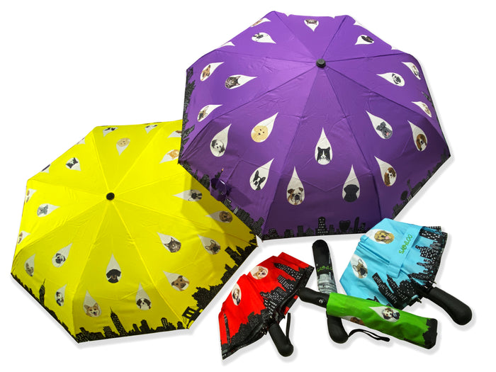 "Sabyloo's ""Raining Cats and Dogs"" Designer Umbrella"