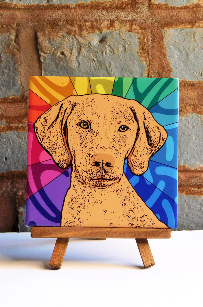 Vizsla Ceramic Art Tile