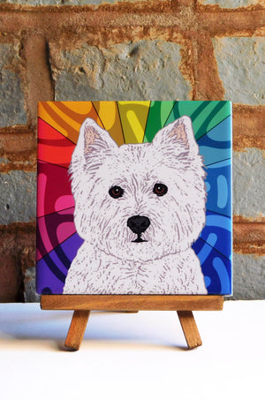 Westie Ceramic Art Tile